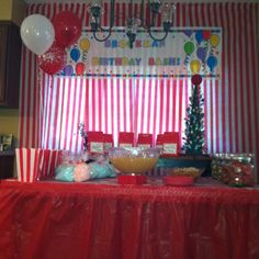 Carnival themed birthday party for Charleigh.