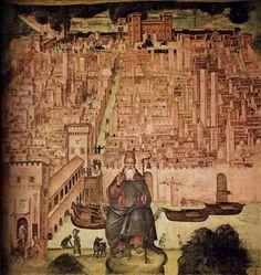 Pavia viscontea riprodotta in un affresco in S. Teodoro by Luca Gallotti