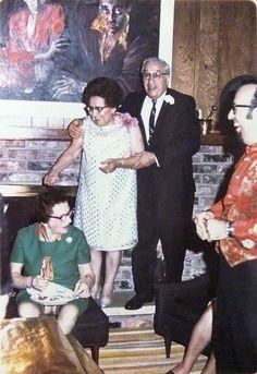 50th anniv party of Brana & Al Pinsky at Carol & Irv Pinsky's house at 4600 Cedarwood Mpls MN Dec 1969 with Sara Oxman Brana, Al & Irv Pinsky by Stu Pinsky | by reel3d1