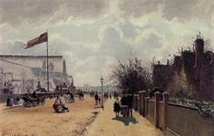 The Crystal Palace, London - Camille Pissarro