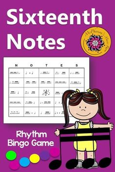 Your elementary music students will love this rhythm bingo game. Lots of winners! Use for whole group instruction, centers or with a substitute! Easy activity to add to lesson plan!