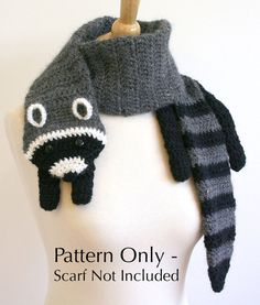 Items similar to PDF Crochet Pattern for Fox Scarf - DIY Fashion Tutorial on Etsy, a global handmade and vintage marketplace. Crochet Scarves, Crochet Shawl, Crochet Clothes, Knit Crochet, Crochet Horse, Crocheted Scarf, Easy Crochet, Crochet Crafts, Crochet Projects