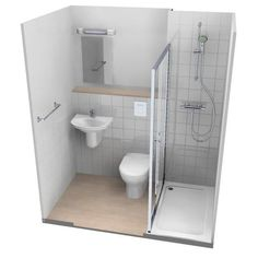Shower Pods, Small Shower Room, Small Bathroom Layout, Small Showers, Glass Showers, Bathroom Floor Plans, Bathroom Ideas, Tiny Bathroom Makeovers, Bathroom Organization