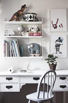 Interiors for kids Girl Room, Girls Bedroom, Algot, Kid Spaces, Office Desk, Playroom, Corner Desk, Baby Kids, Nursery