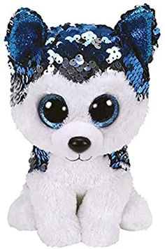 Buy Ty Flippables - Slush Husky at Mighty Ape NZ. Official product from Ty's wildly popular Collection! This tall soft toy makes a great addition to any Beanie Boo collection. Collect as many as. Beanie Boo Dogs, Ty Beanie Boos, Beanie Boo Birthdays, Ty Stuffed Animals, Husky, Soft Toys Making, Blue Dog, Big Eyes, Plush