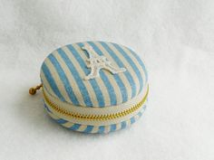 macaron Coin purse, Eiffel Tower  Paris, lace blue macaroon,Jewelry pouch. $16.00, via Etsy.