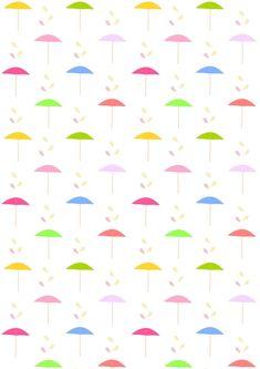 FREE printable beach umbrella pattern paper | #parasolpattern