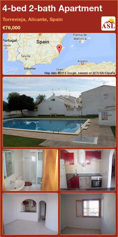 4-bed 2-bath Apartment in Torrevieja, Alicante, Spain ►€76,000 #PropertyForSaleInSpain