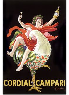 Vintage Cordial Campari Rooster Poster Art Print