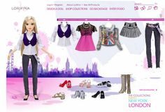 Lorifina, the new Fashion Doll from Hasbro   The Dollhead. Screen cap from www.lorifina.com - the London collection, 2008.