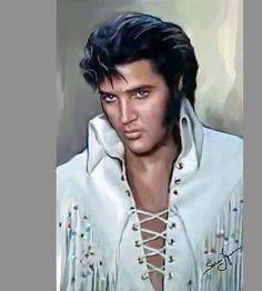 Elvis by Sara Lynn Sanders Elvis Und Priscilla, King Elvis Presley, Elvis Presley Pictures, Elvis Memorabilia, Outfits Hombre, Lisa Marie Presley, Graceland, No One Loves Me, Rockers