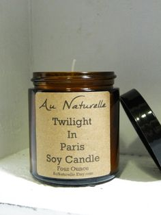 Scented Soy Candle    Handpoured     Four Ounce   by aunaturelle
