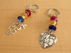 Autism Awareness Key Chain Asperger's Syndrome por Twenty2Roses