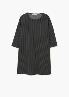 Prosta wzorzysta sukienka | MANGO