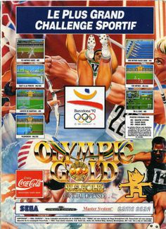 Olympic Gold for Game Gear, Master System and Mega Drive (France, U.S. Gold, June 1992)