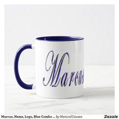 Marcus, Name, Logo, Blue Combo Coffee Mug. Mug