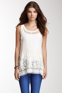 Ocean Vista Lace Silk Tank by Jack & Jinger on @HauteLook