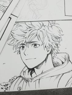 Manga Drawing Ideas Gwapooo *u* Cartoon Kunst, Anime Kunst, Cartoon Art, Anime Drawings Sketches, Anime Sketch, Cute Drawings, Manga Art, Anime Art, Anime Boy Zeichnung
