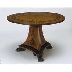 Table, Thomas Hope, 1805. Victorian Furniture, Antique Furniture, Art Nouveau, Empire, Furniture Styles, Victorian Era, Edwardian Era, Vintage Antiques, Antique Art