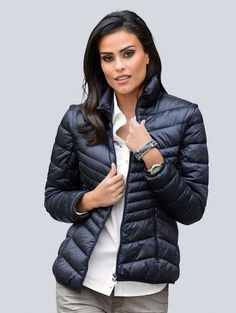 Puffer Jackets, Winter Jackets, Alba Moda, Black Down, Products, Fashion, Seasons Of The Year, Vest, Mandarin Collar