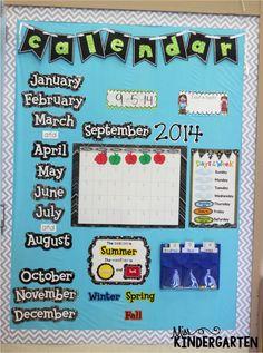 Miss Kindergarten: Calendar Time {using interactive calendar notebooks}