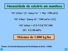 ... 000 kg/ha. Fonte: Comissão Estadual de Fertilidade do Solo (1989