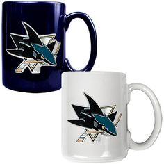 Great American Products San Jose Sharks 2pc Coffee Mug Set