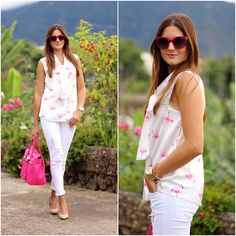 Get this look: http://lb.nu/look/7786362  More looks by Marianela Yanes: http://lb.nu/marilynscloset  #casual #chic #classic http://marilynsclosetblog.blogspot.com.es/2015/09/pink-flamingos-shirt.html
