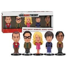 Funko's Mini Wacky Wobblers done Genius style your TV favorite BIG BANG THEORY.