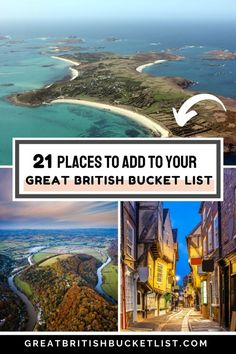 Beautiful national parks, buzzy cities, mountains and beaches - where's on your Great British Bucket List for 2021? If you're looking for new places to visit, how about heading to the Ribble Valley for an outdoor adventure or to the Scilly Isles to see some wildlife. If you love food, the Lake District and the Chilterns should be on your list. Or if you love city breaks, how about checking out Durham, Bristol or Glasgow? #VisitBritain #England #Scotland #Wales #TravelInspiration World Travel Guide, Europe Travel Tips, Travel Guides, Travel Plan, Bucket List Destinations, Travel Destinations, Holiday Destinations, Best Places To Travel, Places To See