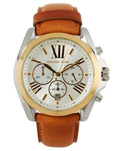 Montre chronographe avec bracelet en cuir exclusivité ASOS