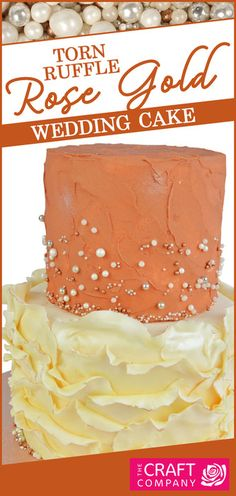 This elegant torn ruffle & rose gold buttercream cake is perfect for any special occasion. Perfect as part of a wedding cake design! Wedding Cake Designs, Wedding Cakes, Ruffle Cake Tutorial, Buttercream Cake, Gold Wedding, Special Occasion, Birthday Cake, Rose Gold, Desserts