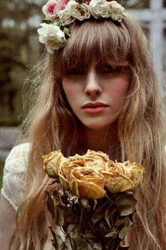"""Bohemian Bride #floral #wreath #bridal"""