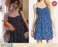 Zelda's blue printed sundress on A to Z.  Outfit Details: http://wornontv.net/39215/ #AtoZ