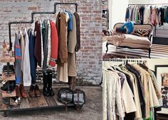 decorating with industrial garment racks? - organize and decorate with your clothes for apartments or homes with no closet space
