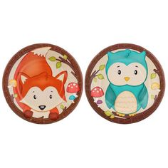 Woodland Party Plates - Small
