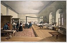 Florence Nightingale , English nursing pioneer and hospital reformer. Florence Nightingale inspecting the wards of the military hospital at Scutari during the Crimean War . Patients able to leave. Get premium, high resolution news photos at Getty Images Florence Nightingale, Simpsons Artist, Modern Hospital, Turkey Vacation, Crimean War, Iran Travel, You're Dead, British Soldier, Historical Romance