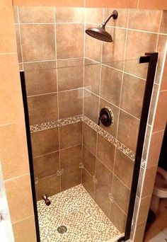 Semi Framed Pivot Shower Door in Chrome at The Home Depot   Mobilestand up shower tile   Tile Work   Pinterest   Small showers  Tile  . Mobile Home Shower Doors. Home Design Ideas