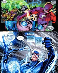 """Barry Allen (The Flash) becomes a Blue Lantern. Glenmarc """"Flash"""" Antonio of Justice Ph, one of the Phillipines' foremost Flash collectors, on how his fandom has shaped his life. Mcu Marvel, Marvel Funny, Marvel Comics, Comic Superheroes, Blue Lantern Corps, Comic Art, Comic Books, Flash Barry Allen, Dc Icons"""
