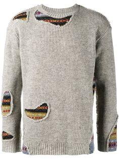 Miharayasuhiro distressed intarsia jumper Strickwaren, Männermode, Pullover,  Modestile c4fc8083d3