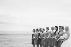 Beach wedding - bridesmaid pose: Two Rivers, WI