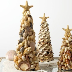 Shell Christmas trees.... I saw one made out of oyster shells the other day in Ponchatoula, selling it for $175!