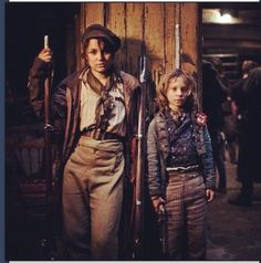 Eponine and Gavroche. Two out of my three FAVORITE chracters. <3 <3 <3 <3 <3 <3 Les Mis. These two actors were AMAZING!! Also, the two were brother and sister!