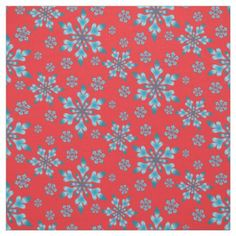 Snowflakes Pattern Fabric - Xmas ChristmasEve Christmas Eve Christmas merry xmas family kids gifts holidays Santa
