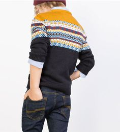 Image 1 of Jacquard knit sweater from Zara