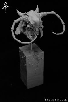 ArtStation - 天牛, sazen lee Roman Sculpture, Creatures, Clay, Model Kits, Statue, Artwork, Decor, Monsters, Art Work