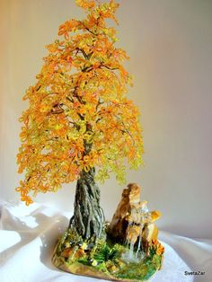 осень золотая | biser.info - всё о бисере и бисерном творчестве