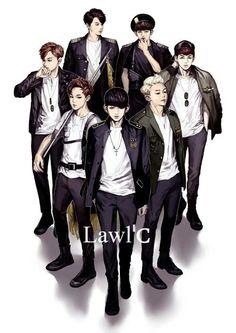BTS FanArt - HanbinsWife | Vingle | K-Pop, BTS (Kpop), Asian Male Stars