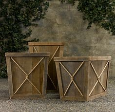 AZOBE CONTAINERS $495 - $595$394.99 - $595 on select styles Modeled on containers from 19th-century European orangeries, our exclusive planters are hand-built in Poland from wood that once supported drying bricks at a Belgian factory.
