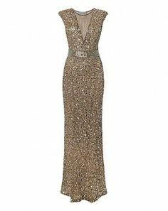 Gina Bacconi sequin maxi dress £330.00